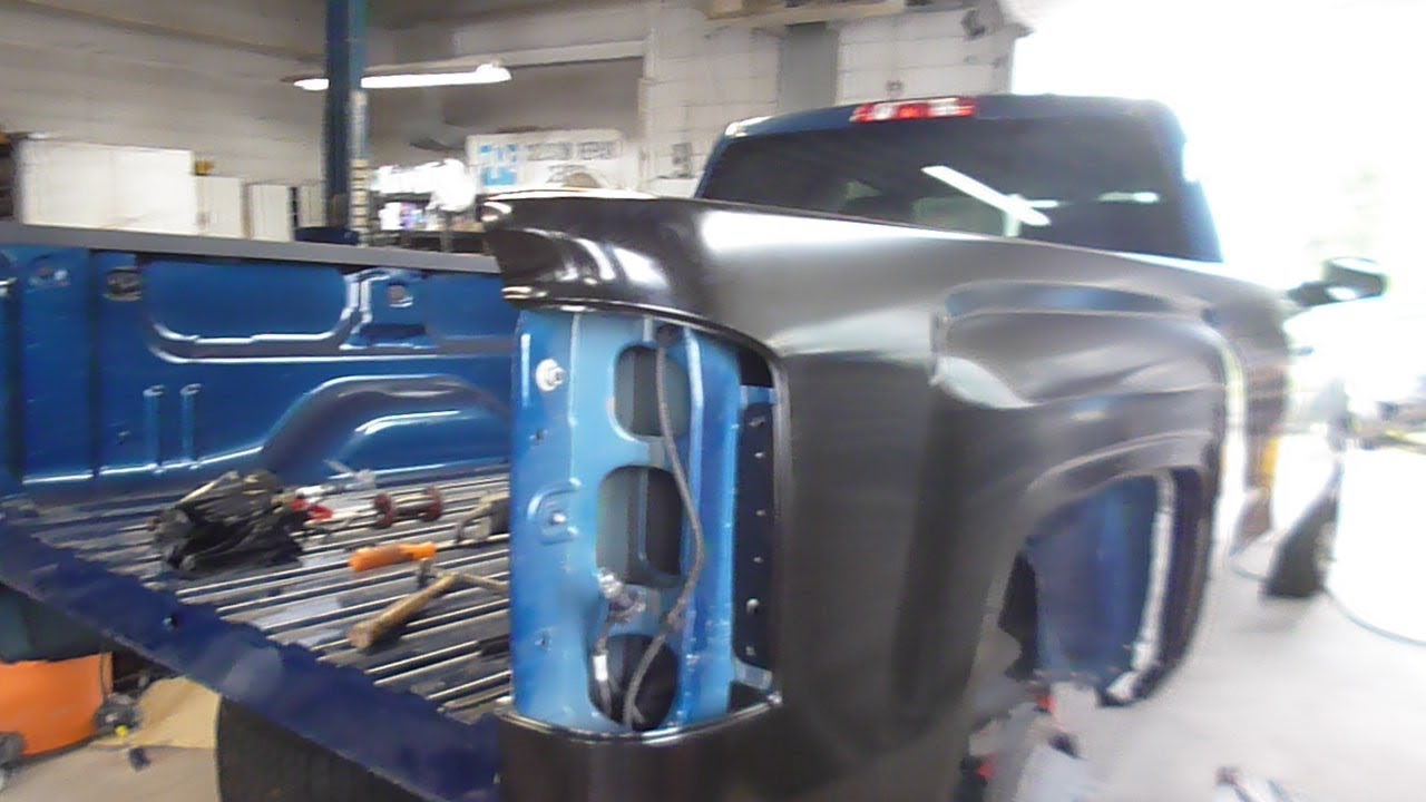 Auto Body How To Replace A Pick Up Truck Bed Side Panel Youtube