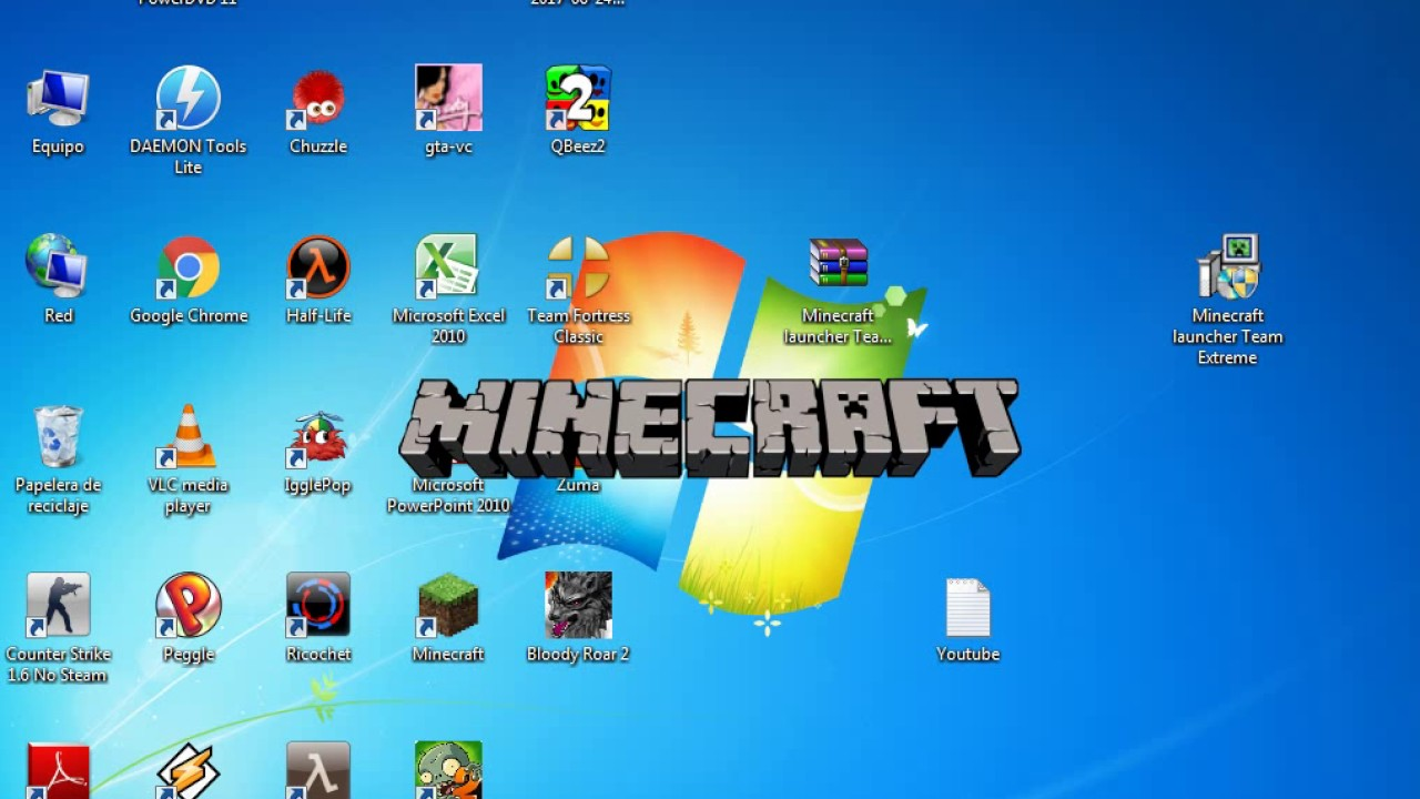 descargar minecraft para pc todas las versiones team extreme