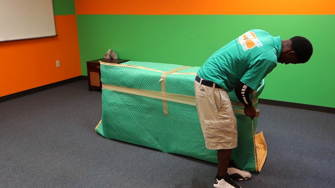 Free Junk Removal >> Wrapping a Dresser at College Hunks Hauling Junk & Moving - YouTube