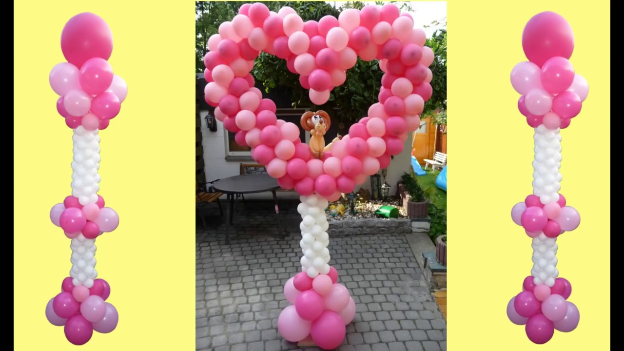 Ballondekoration balloon lionheart ballon l wenherz for Balloon decoration how to
