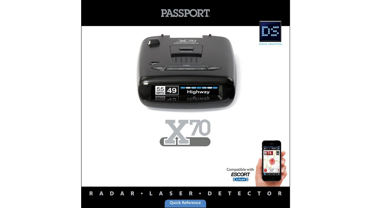 Escort Passport Max >> Escort Passport X70, a new radar detector is coming - YouTube