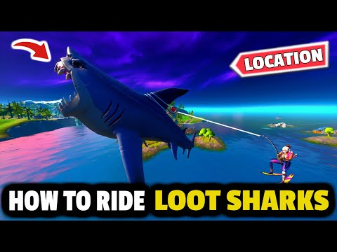 How To RIDE A SHARK In Fortnite (Best Loot Shark Locations In Fortnite)!