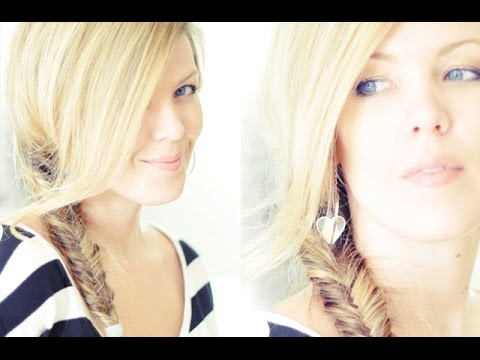 Low Side Fishtail Hair Tutorial