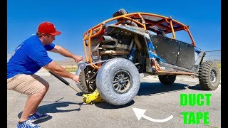 DRIFT RZR !! Duct Tape Tires!( It Actually Works)