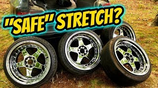 17X9 TIRE STRETCH COMPARISON | 205-40 VS 215-40