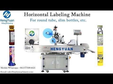 Automatic Horizontal Slim TEST TUBE  Labeling Machine