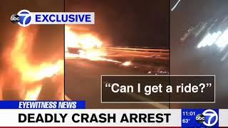 Man Hails Cab As Girlfriend Burns To Death In His Car
