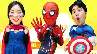 슈퍼히어로 호키포키 어린이 동요 노래 해요 | Superheros hokey Pokey Nursery rhyme song | 말이야와아이들 MariAndKids