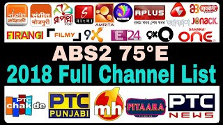 ABS Free Dish Latest 2018 Full Channel List | ABS 2 | ABS 2 75E | New Channels Update
