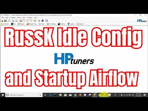 RussK Idle Config and Startup Airflow tuning with HP Tuners