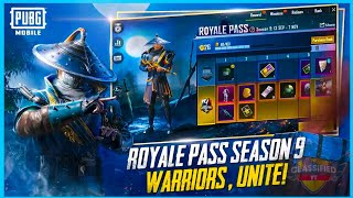 SEASON 9 ROYAL PASS : 1 TO 100 REWARDS , OFFICIAL TRAILER ( PUBG MOBILE )