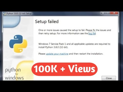 How To Solve Setup Failed Problem In Python Installation #python