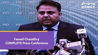 Fawad Chaudhry COMPLETE Press Conference | 19 March 2019