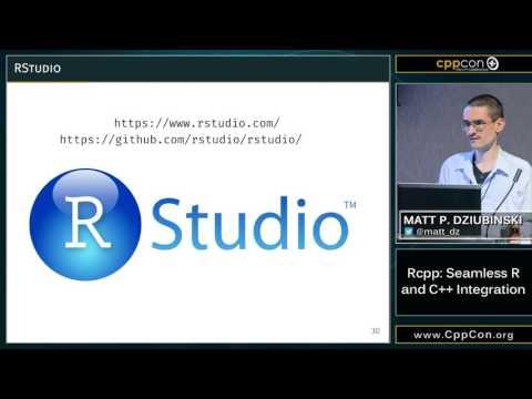 "CppCon 2015: Matt P. Dziubinski ""Rcpp: Seamless R and C++ Integration"""