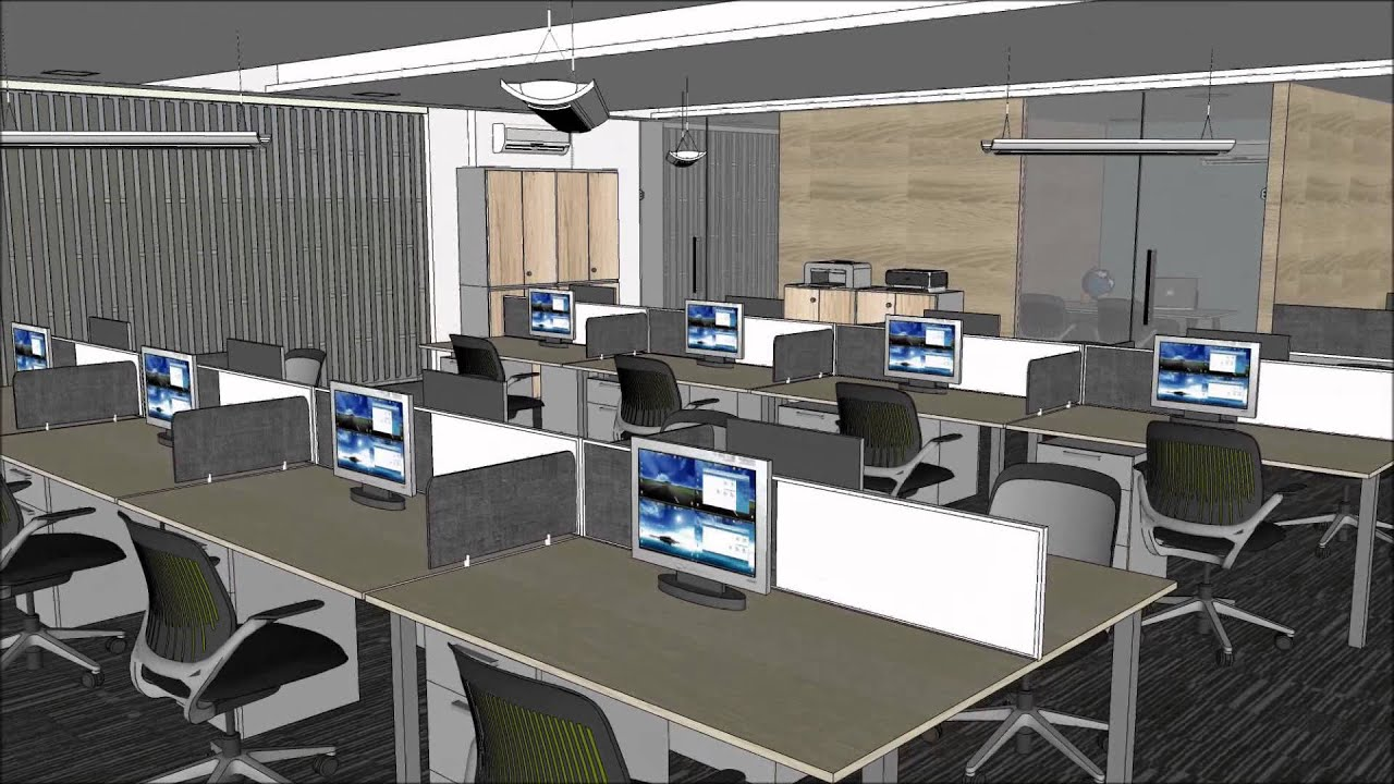 Google Sketchup Animation Office Interior Bari Xemplar