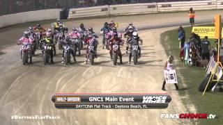 2015 DAYTONA Flat Track - Harley-Davidson GNC1 Main Friday - AMA Pro Flat Track