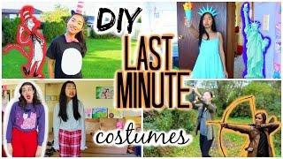 DIY: Last Minute Halloween Costumes (Cat in the Hat, Statue of Liberty, Katniss, Miranda Sings)