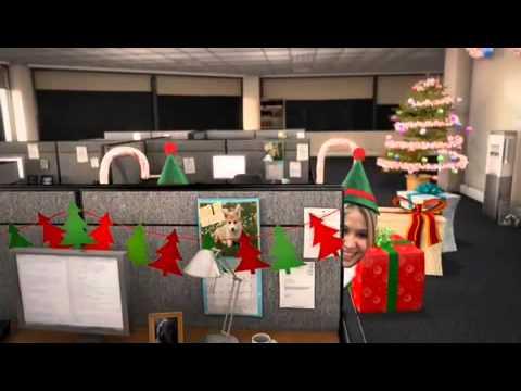 Navidad en la oficina youtube - Decoracion de navidad para oficina ...