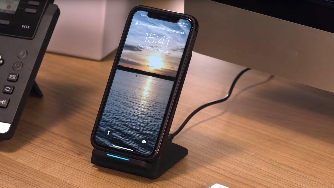 genial laden sie ihr smartphone bequem kabellos bei pearl. Black Bedroom Furniture Sets. Home Design Ideas