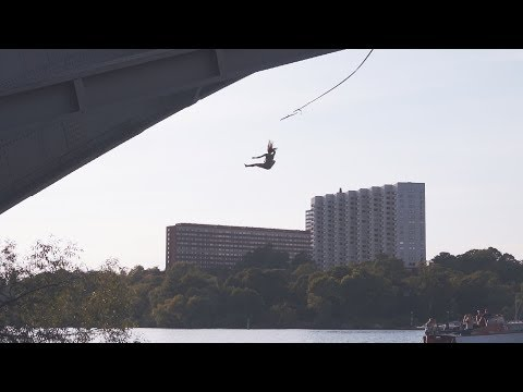 Urban cliff jumping and Ninja Warrior training | Stockholm