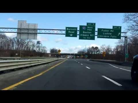 Interstate 291 - Massachusetts eastbound