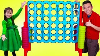 Download Jannie Pretend Play with Giant Connect 4 Toy Mp3 and Videos