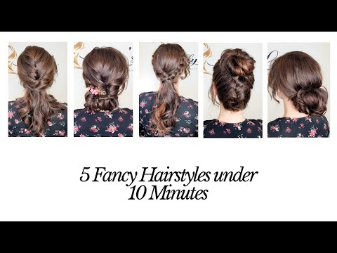 5-fancy-hairstyles-under-10-minutes-|-quick-hairstyles-|-by-lilly's-hairstyling