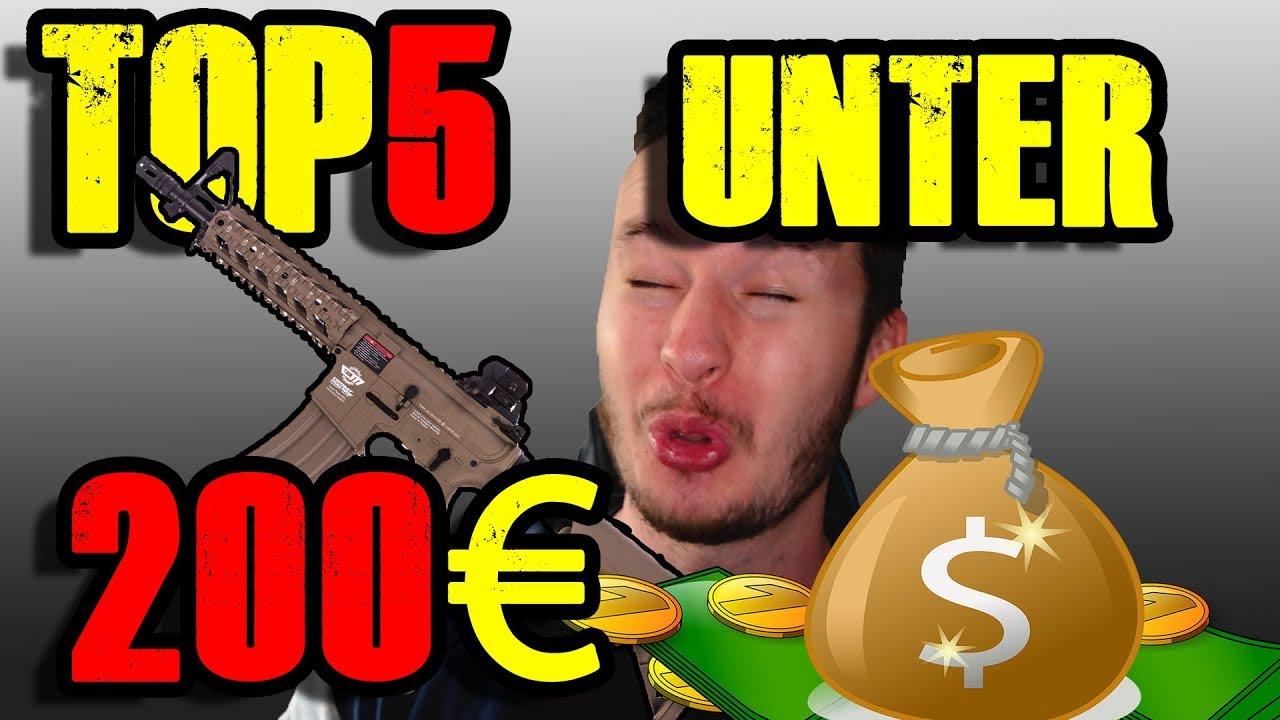TOP 5 AIRSOFT UNTER 200€ Beste Softair Tipps & Tricks