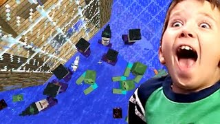 Minecraft with 9 Year Old Jacob - MOB OVERLOAD!