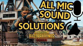 PUBG MOBILE - All Mic/Sound Problem Tips in 1 Minute