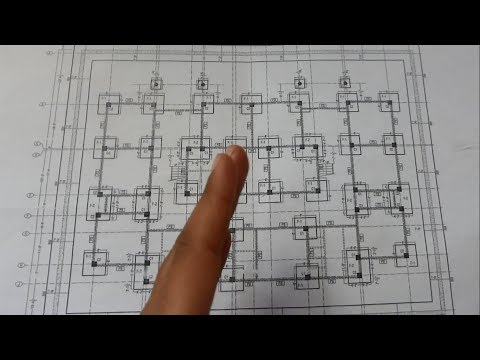 How To Read Building Foundations Drawing Plans | Column Footings Detail | Also X Sections Detail