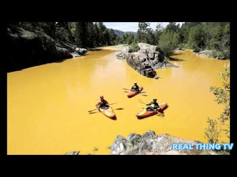 Entire Colorado river turns YELLOW
