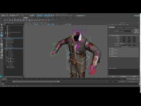 Black ops 3 Zombie model animation rig