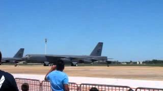 b 52 bomb run at barksdale afb air show 2012