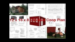 12 X 16 X 8 Chicken Coop -- Chicken Coop Plan -- Build Chicken Coop