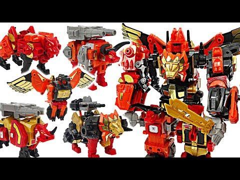 Transformers Predaking! Lion, eagle, bull, rhino, puma 5 combine! #DuDuPopTOY