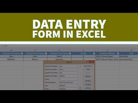 How to Create  a Data Entry Form  in a Very Easy Way | Gijis Channel