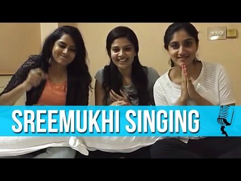 Sree Mukhi having fun singing Attarintiki Daredi...