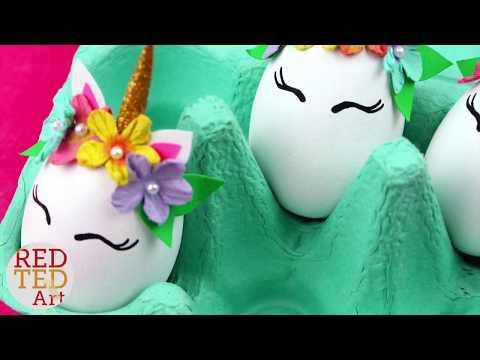 Unicorn DIY Eggs - Easy Easter Decor - Cute Unicorn Egg Decorations