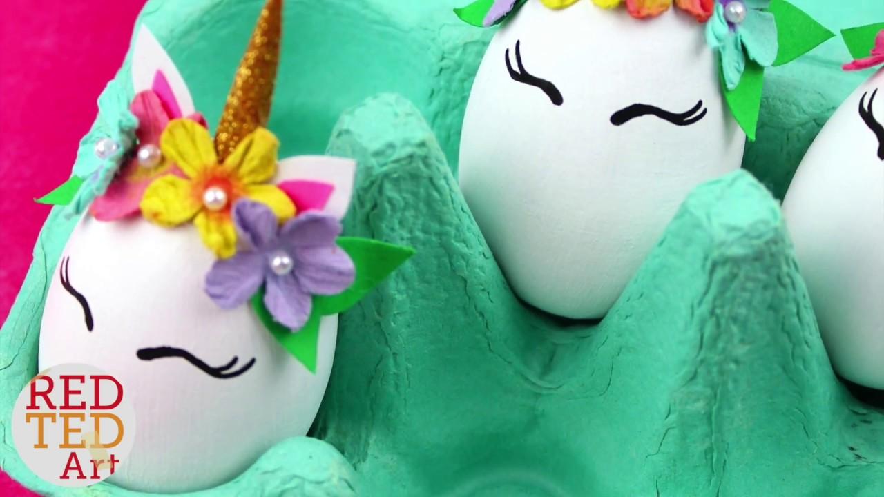 Unicorn Diy Eggs Easy Easter Decor Cute Unicorn Egg