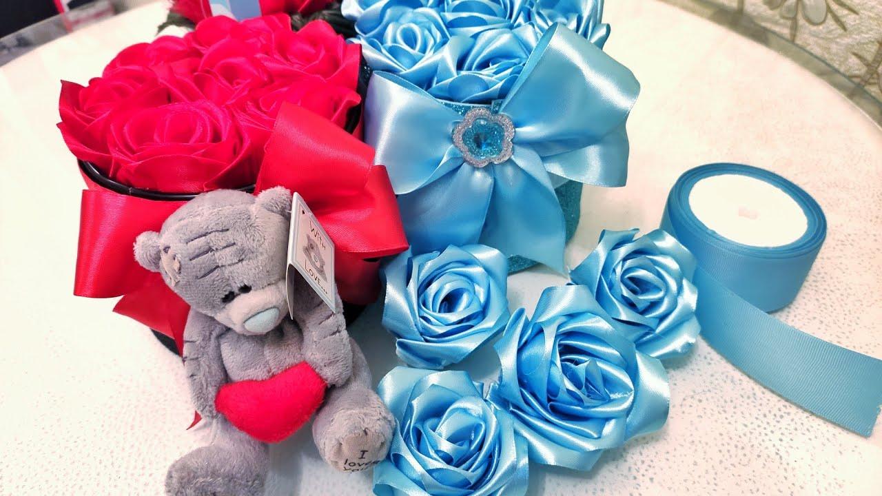 🇦🇿Lentden asan gül düzeltmek.Amazing diy ribbon rose.Diy easy flower Making.Sewing hacks.crafts idea