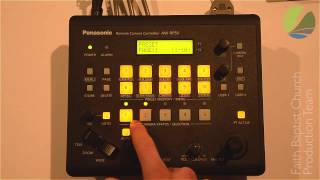 AW-RP50 Panasonic PTZ-Controller (Presets & on/off)