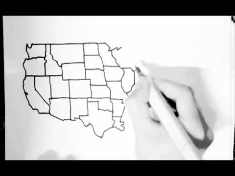 united states drawn freehand from memory youtube