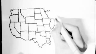 United States drawn freehand from memory