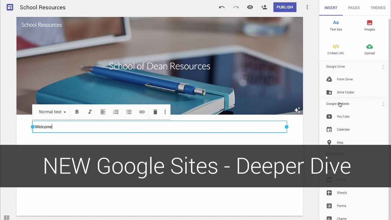 new google sites deeper dive youtube