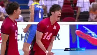 石川祐希 Yuki Ishikawa Japan vs Slovenia 2018 FIVB World Championship