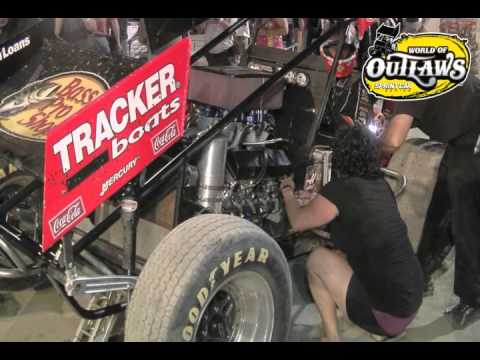 steve kinser motor change time warp youtube