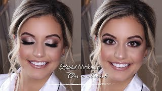 Bridal Makeup On A Client!! | Ft Tartelette In Bloom & Jaclyn Hill Palette