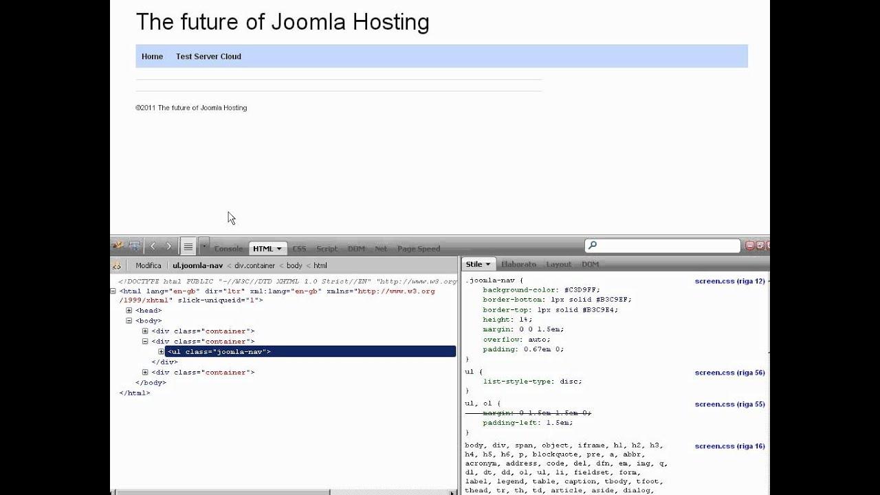 Modificare CSS del Template - YouTube