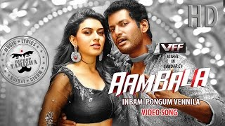 Aambala Video Songs | Inbum Pongum | Hiphop Tamizha Musical | Vishal, Hansika | Sundar C | Santhanam